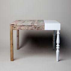 dual personality   spliced table #design #furniture #home #contemporaryFurniture #uniquefurniture #luxuryfurniture #designerfurniture