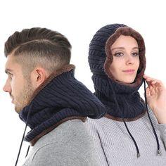 867c532f745 Women Men Couples Multi Use Balaclava Face Mask Winter Knit Scarf Skullies  Beanies Hat Neck Warmer