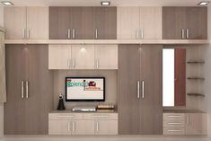 Wardrobes:  Living room by Splendid Interior & Designers Pvt.Ltd