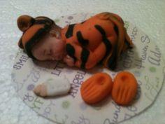 Cake Topper Fondant Baby Tiger | CreatingMemoriesbyanafeke - Edibles on ArtFire