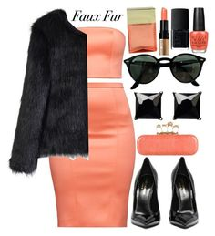 """""""Faux Fur"""" by deedee-pekarik ❤ liked on Polyvore featuring Chicwish, Alexander McQueen, Witchery, Ray-Ban, Michael Kors, Bobbi Brown Cosmetics, NARS Cosmetics and OPI"""