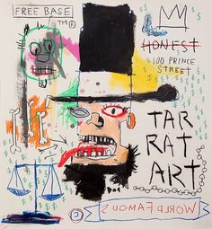 JEAN MICHEL BASQUIAT- THE ABE LINCOLN ( one of the few ABE LINCOLNS JMB ever did)