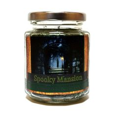 Spooky Mansion Wood Wick Candle by Candeo Candle, 8 oz size Halloween Candles, Halloween Home Decor, Halloween House, Wood Wick Candles, Soy Candles, Candle Jars, Fragrant Candles, Handmade Candles, Candle Making
