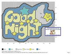 GOOD NIGHT MOON & STARS by TRICIA -- WALL HANGING