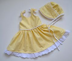 PACountryCrafts: I LOVE Baby Girl Sewing! Free dress pattern link