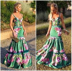 Cute Floral Dresses, Unique Dresses, Sexy Dresses, Moda Outfits, Chic Outfits, Pretty Outfits, Modern Fashion Outfits, Boho Fashion, Fashion Dresses