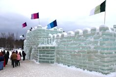 The Saranac Lake Ice Palace at the Winter Carnival