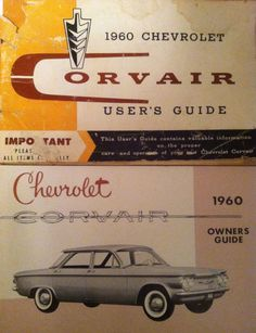 Canadian and American Corvair Owners Manual for 1960