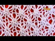 Como Tejer Punto FANTASÍA DE ESTRELLAS - 2 Agujas (35) - YouTube