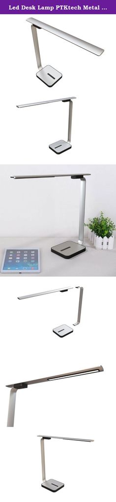 Led Desk Lamp PTKtech Metal Eye Care Table Lamp Dimmable 4 Lighting Modes Touch-Sensitive Control Panel With USB Charging Port For College ,Office ,Home, PC, Reading, Studying and Working ,Black. Specifications: Input Voltage:100-240V AC(adapter) CCT:4500k CRI>80 Consumption Power :8W Luminous flux :1200lux at 0.3m height Beam Angle :100degree Materia :Lamp Luminous Arm , Aluminum Alloy , Lamp Bracing Arm , Aluminum Alloy ,Metal Aluminum Alloy ,. Product Size 14.3x4.415.7inch Packing...