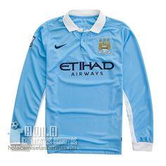 Camiseta Primera Manga Larga Manchester City 2015-16  €19.9