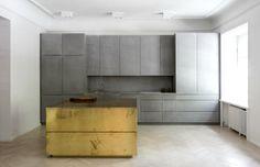 brass, kitchen