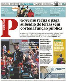 Portada de Público (Portugal) - Felipe VI