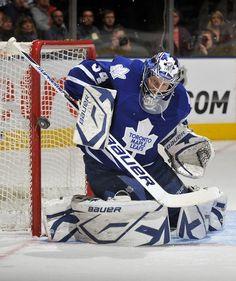 James Reimer Makes Save. Ice Hockey Teams, Hockey Goalie, Nhl, James Reimer, Air Canada Centre, American Sports, National Hockey League, Toronto Maple Leafs, Sports Illustrated