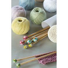 Nuevas agujas de bambú tricot pintadas a mano U1754 - Agujas de tricot - DMC   New bamboo knitting needles hand painted.