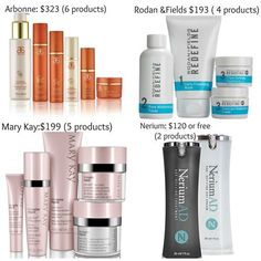 Nerium is half the cost, if not more, of other brands, only one cream in the morning and one cream at night. 30 day money back guarantee and scientific results! What do you have to loose?!?! Try Nerium today! Vickicameron.Theneriumlook.Com