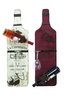 Rustic Vineyard Wine And Stemware Rack Set Of 2