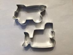 Dump truck measures at approximately 4.5 inches. Bulldozer measures at approximately 4.25 inches. Tin plated steel with approximately 1 depth  Made in the USA  Please message me for large bulk order availability and pricing. Thank you for your interest in my shop