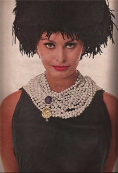 Sophia Loren - 1961 - Van Cleef & Arpels - Hat by Adolfo of Emme - Photo by Richard Avedon