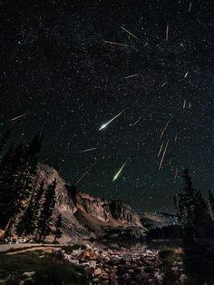 Perseid Meteor Shower 2012: David Kingham - Night sky watcher David Kingham took this photo of the Perseid meteor shower from Snowy Range in Wyoming on August 12, 2012. **Two Favorite things Meteors and Wyoming Sky**