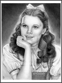 Original Artwork Judy Garland Dorothy Gale Wizard by SandyJBrooks, $79.00