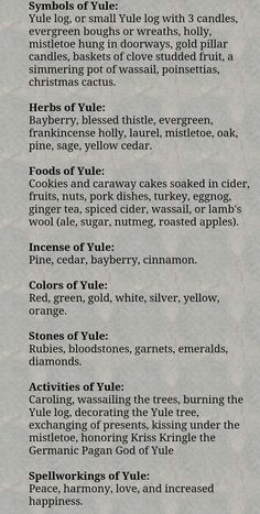 Yule, The Winter Solstice