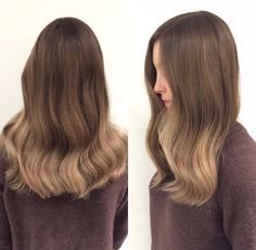 Exclusive ombrè  #wella #curls #hair #hairinspo #ombrè #ombre #brownhair #classy #babe