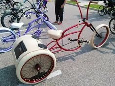 Tricycle Bike, Trike Bicycle, Cruiser Bicycle, Motorized Bicycle, Motorcycle Bike, Cool Bicycles, Cool Bikes, Retro Rad, Lowrider Bicycle