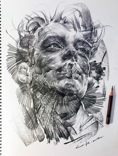 Swirling Lines and Swaths of Charcoal Form Dramatic Portraits by Lee.K | Colossal