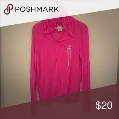 PINK by Victoria's Secret Zip up style. Like new condition. So great to transition into fall! PINK Victoria's Secret Tops Sweatshirts & Hoodies