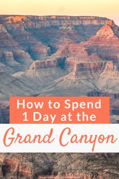 How to Spend 1 Day at the Grand Canyon - Planning a trip to the Grand Canyon? Use this guide to plan the best things to do at the Grand Canyon South Rim, how to get around, where to stay, and must-know Grand Canyon travel tips for a successful visit! Grand Canyon Hiking, Visiting The Grand Canyon, Grand Canyon South Rim, Trip To Grand Canyon, Best Grand Canyon Tours, Grand Canyon Things To Do, Grand Canyon Arizona, New Orleans, New York