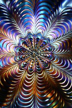 Fractalish flowerish glass mandala by - Hob -, via Flickr