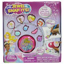 Jewel Snap Its - Disney Princess by TARA. $19.99. Snap and wear; Create your own bracelets and necklaces; For ages 3+; Design!. Create your own bracelets and necklaces with 30 charms in this Jewel Snap Its - Disney Princess! It's easy to DESIGN, SNAP and WEAR! Color and design the mini activity sheets with colored pencils, glitter glue and sparkling stickers! Then, simply use the Snap-Its plastic unit to trap your artwork into the charms. Attach the charms to y...