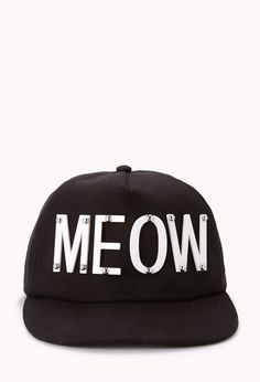 Cat Craze Meow Snapback | FOREVER21 You have cat to be kitten me right meow ... WANT