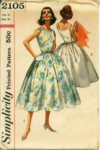 Vintage Simplicity Sewing Pattern 2105