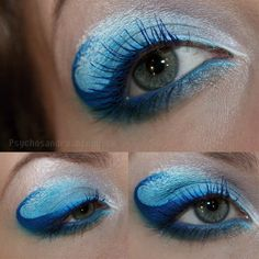 Ocean waves eye makeup