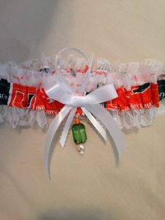 "Miami ""Hurricanes"" 2.5"" Wide Garter by SportzNutty on Etsy"