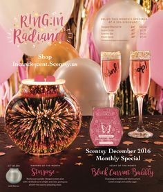 SCENTSY DECEMBER 2016 WARMER & SCENT OF THE MONTH, available Dec 1st! To order, contact me, or go to my site http://CWhiteaker.scentsy.us
