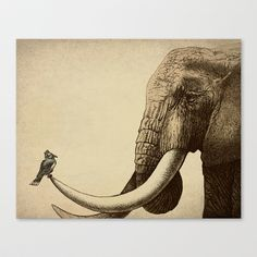 Old Friend Stretched Canvas by Eric Fan - $85.00