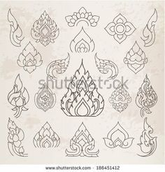 Doodle Thai arts pattern and design elements and page decoration - lots of useful elements to embellish your layout, Vector illustrator by ...