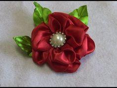 Fabric flower tutorial- Flor em Cetim com Novo modelo de Petulas Passo a Passo - YouTube