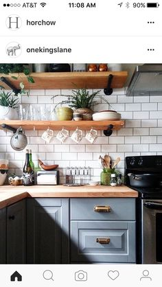 I need shelving like this in new kitchen
