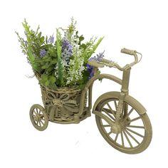 Floreira em ABS Marrom em Formato de Bicicleta - 27x18 cm | Carro de Mola - Decorar faz bem.
