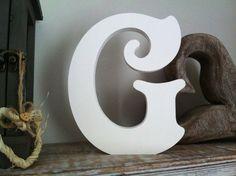 Freestanding Wooden Wedding Letter 'G'  10cm  by LoveLettersMe, What Color should I chose?