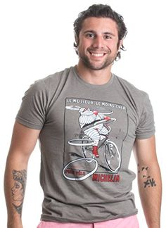 Vintage French Cycling Tire Ad   Bicycle, Cyclist Art Unisex Triblend T-shirt-(Triblend,XL) -- Click on the image for additional details.
