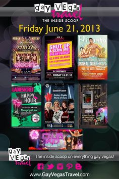 Friday June 21st Gay Vegas Weekend Events! #Gay #GayVegas #GayVegasTravel