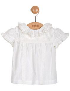 BLUSA BEBÉ MANGA CORTA CON TOPITOS - Camisas - blusas - Bebé - Tienda oficial Gocco