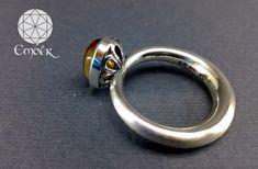 Cabochon Citrine set in brushed silver ring Bespoke Jewellery, Handmade Jewellery, Gemstone Rings, Silver Rings, Gemstones, Jewelry, Handmade Jewelry, Jewlery, Gems