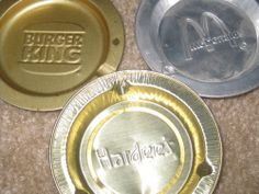 Fast food ashtrays