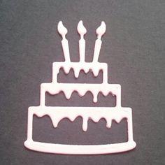 Birthday cake die cut